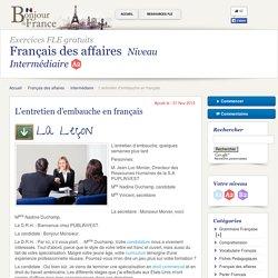 L'entretien d'embauche en français - Intermédiaire - Français des affaires