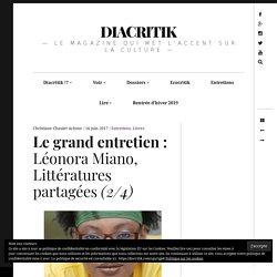 Le grand entretien : Léonora Miano, Littératures partagées (2/4)