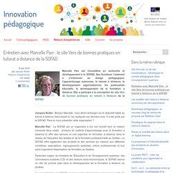 Entretien avec Marcelle Parr : le site Vers de bonnes pratiques en tutorat à distance de la SOFAD
