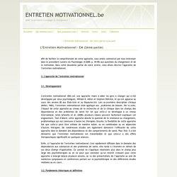 L'Entretien Motivationnel - EM (2ème partie) - ENTRETIEN MOTIVATIONNEL.be