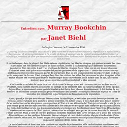 Entretien avec Murray Bookchin par Janet Biehl