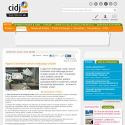 Agent d'entretien et de nettoyage urbain : études, métier, diplômes, salaire, formation