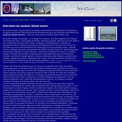 Entretien moteur diesel de bateau, moteur marin de voilier