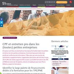 CPF et entretien pro dans les (toutes) petites entreprises
