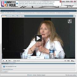 Entretien avec Annie Ernaux - Portail vidéo de l'Université de Rouen
