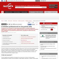 L'entretien professionnel en cinq points clefs NetPME