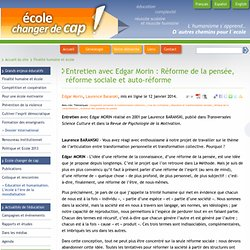 2001 - Réforme de la pensée, réforme sociale et auto-réforme
