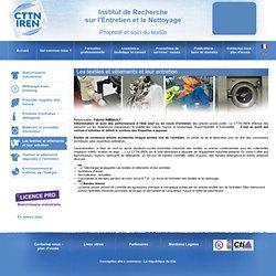 Entretien textile CTTN IREN - Entretien des textiles et hygiène du linge
