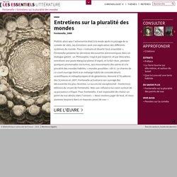 BnF Essentiels Littérature : Entretiens sur la pluralité des mondes (Fontenelle)