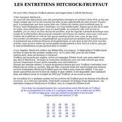 Entretiens Hitchcock - Truffaut