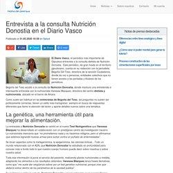 Entrevista a la consulta Nutrición Donostia en el Diario Vasco
