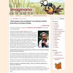 Entrevista a Gustavo Roldán - Imaginaria No. 82 - 31 de julio de 2002