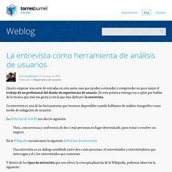 La entrevista como herramienta de análisis de usuarios