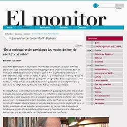 Entrevista con Jesús Martín Barbero