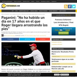 Entrevista a Pierre Paganini sobre Roger Federer
