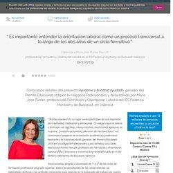 Entrevista ganadora del Premio Educaweb en la categoría Profesionales