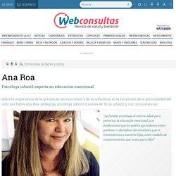 Entrevista a Ana Roa, psicóloga infantil experta en educación emocional