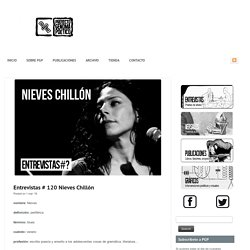 Entrevistas # 120 Nieves Chillón