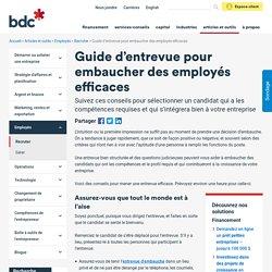 Guide d'entrevue pour embaucher les bons employés │BDC.ca