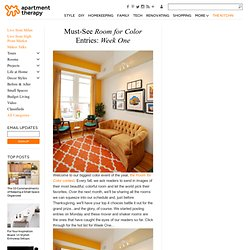 10 Must-See Room for Color Entries: Week One | Apartment Therapy New York