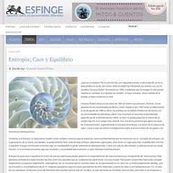 Entropía; Caos y Equilibrio - Revista Esfinge