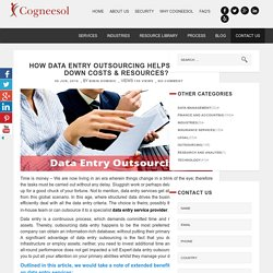 How Data Entry Outsourcing Cut Down Costs & Resources?