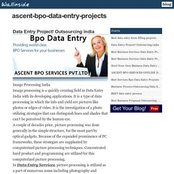 Data Entry Project! Outsourcing india