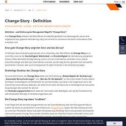 Change-Story: Change Story entwickeln, Change Story kommunizieren