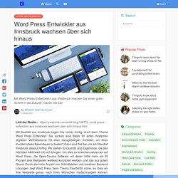 Word Press Entwickler aus Innsbruck wachsen über sich hinaus
