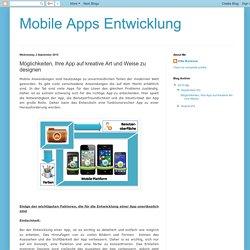 Möglichkeiten, Ihre App auf kreative Art und Weise zu designen