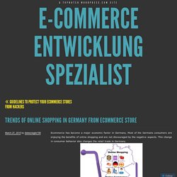 Trends of online shopping in Germany from Ecommerce store