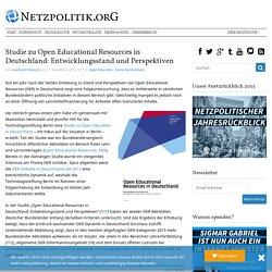 Studie zu Open Educational Resources in Deutschland: Entwicklungsstand und Perspektiven