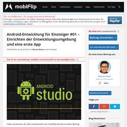 Android-Entwicklung für Einsteiger #01 – Einrichten der Entwicklungsumgebung und eine erste App » Entwickler