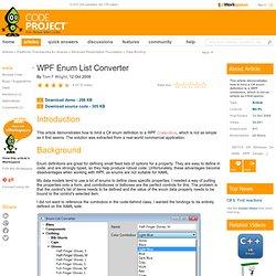 WPF Enum List Converter