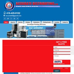 Envelope Printing Services, Envelope Printing Compan ies