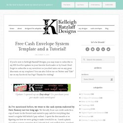 FREE Cash Envelope System Template
