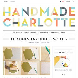 Etsy Finds: Envelope Templates :: vintage + modern design for kids and the home