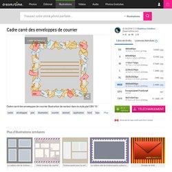 Cadre Carré Des Enveloppes De Courrier Illustration de Vecteur - Illustration du graphismes, cadre: 86209813