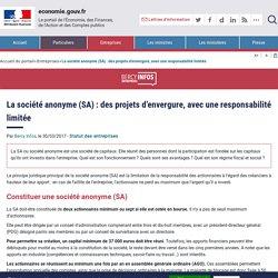 La société anonyme (SA) : des projets d'envergure, avec une responsabilité limitée