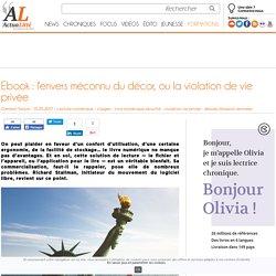 Ebook : l'envers méconnu du décor, ou la violation de vie privée