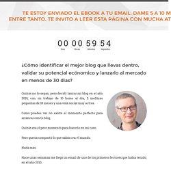 Oferta Curso Bloging