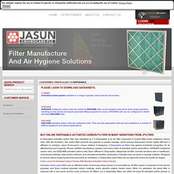 Disposable Activated Carbon Filters Panels and Carbon Cells Online Seller