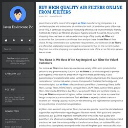 BUY HIGH QUALITY AIR FILTERS ONLINE FROM JFILTERS