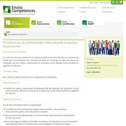 Formation sur la communication interculturelle et gestion du personnel » EnviroCompétences