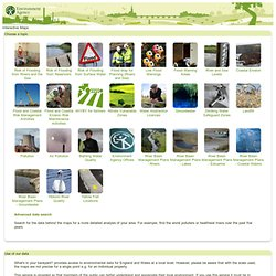 Environment Agency - What's in your backyard?