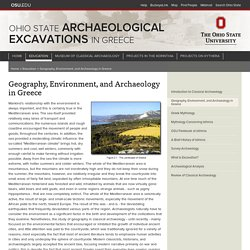 Geography, Environment, and Archaeology in Greece