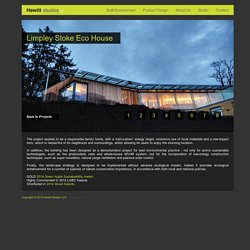 Hewitt Studios LLP - Built Environment - Architecture - Limpley Stoke Eco House