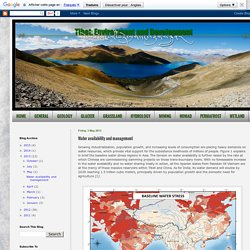 TIBET: Environment and Development: Water availability and management