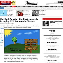 The Best Apps for the Environment: Bringing EPA Data to the Masses - Kaid Benfield - Life