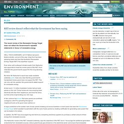 RET review doesn't reflect what the Government has been saying – Blog – ABC Environment